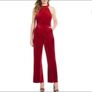 VELVET Red Jumpsuit by Skies Are Blue!